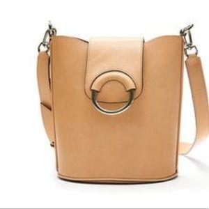 Banana Republic Italian Leather Saddle Bag nwot